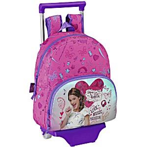 Школьный ранец-рюкзак Safta Violetta Disney Musik ST55400 (1-3 класс, 18 литр) с тележкой на колесах
