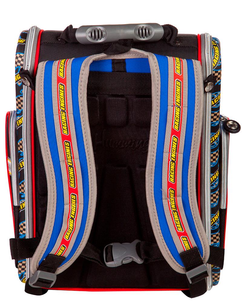 Школьный рюкзак - ранец HummingBird Motomaster K64 с мешком для обуви, - фото 3